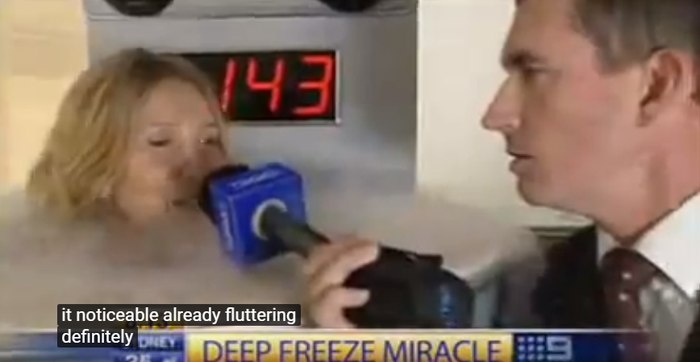 """Freeze Yourself""! Cryo saunas on Today Show Channel 9 (video)"