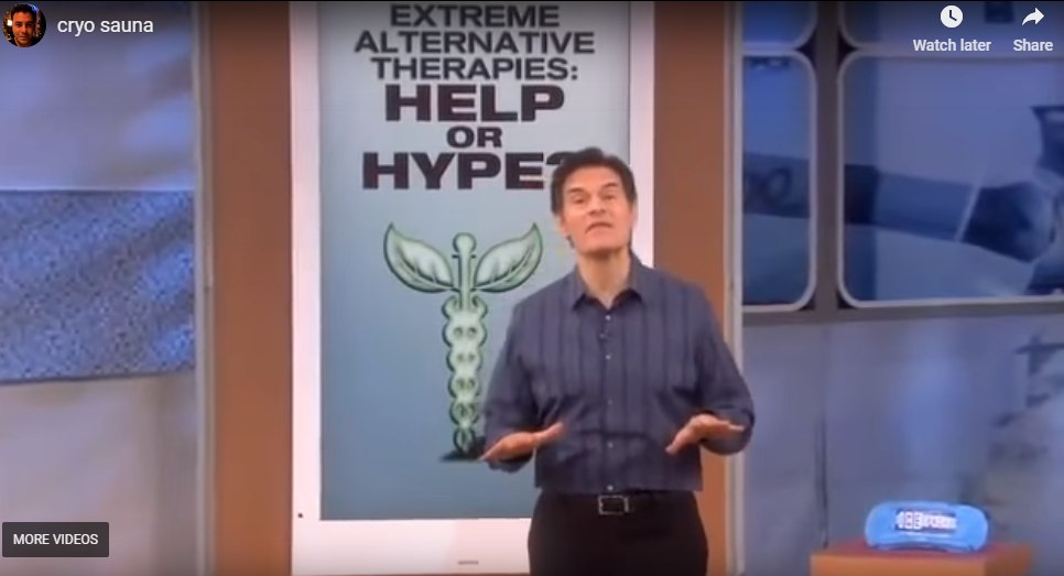Dr Oz Demonstrates Whole Body Cryotherapy