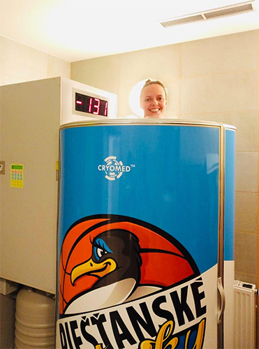 Piešťany Gulls basketball club uses their own cryosauna for rejuvenation