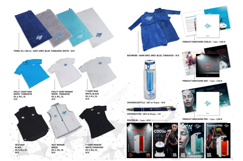 Cryotherapy merchandise kit