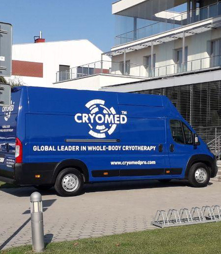 Cryobus, Ihre mobile Kryotherapie-Kammer